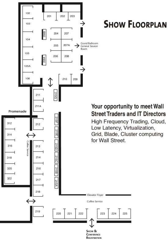 Floor Plan High Frequency Trading Show Conference